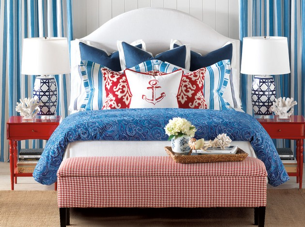 Summer bedroom ideas for small homes for Blue beach bedroom ideas