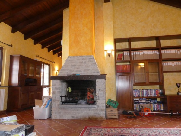 Dwelling: the fireplace  in the living room