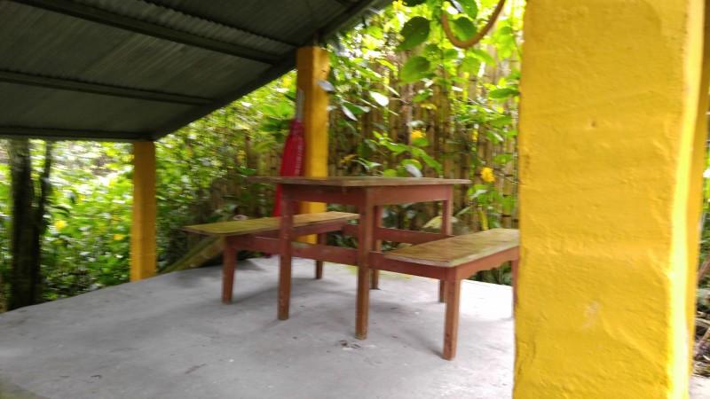 River patio