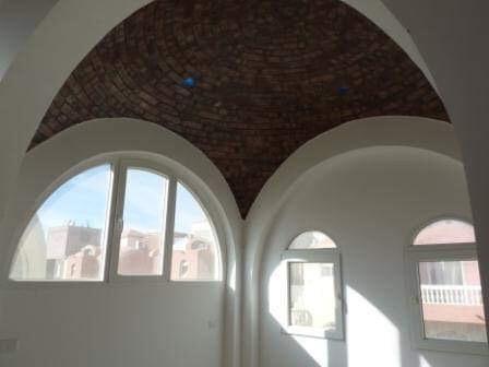 Domed ceiling in bedroom