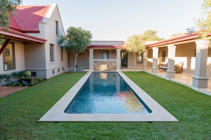 Private courtyard with pool