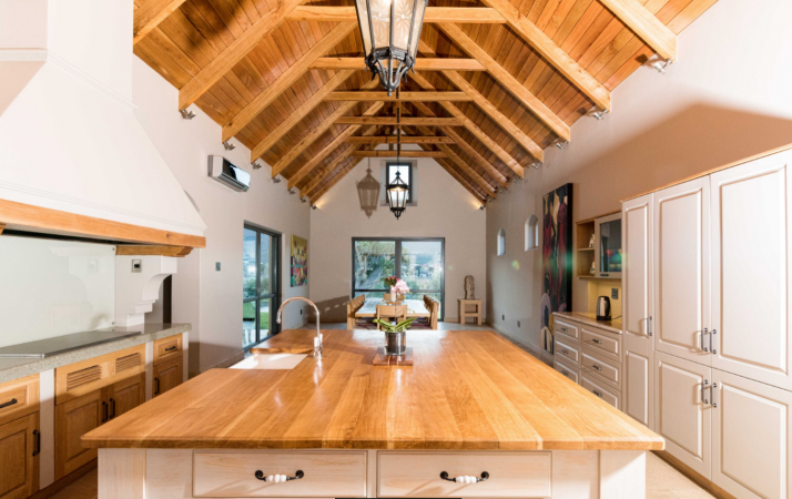 Double volume wooden ceilings