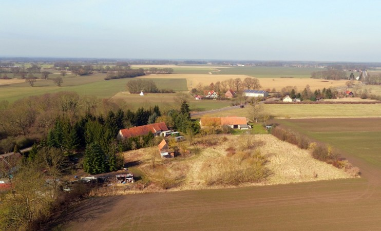 Aerial view of this large plot