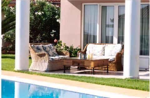 Property for Sale in Luxury beachfront 2-level furnished villa, Derveni, Evrostini, Greece