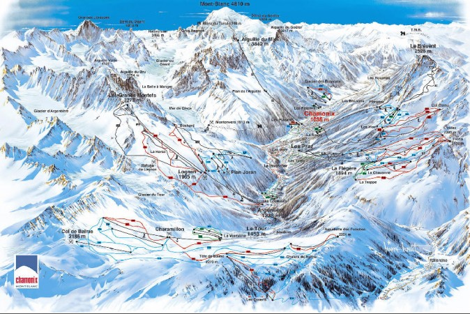 chamonix ski slopes