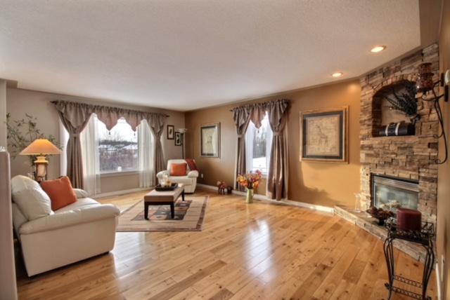LIVING RM WITH GAS FIREPLACE