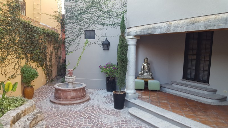 Rear Courtyard and Fountain