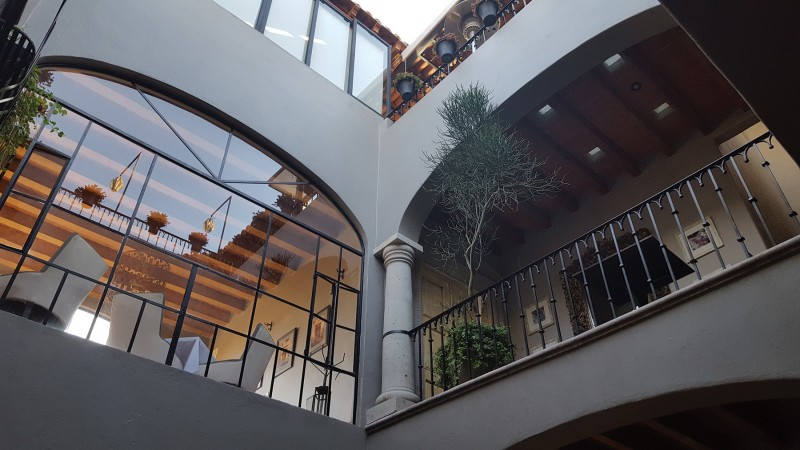 View from Courtyard up to Dining