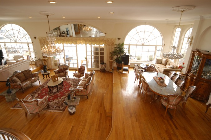 Bird eye view of downstairs great room