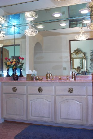 Dressing area in master bathroom