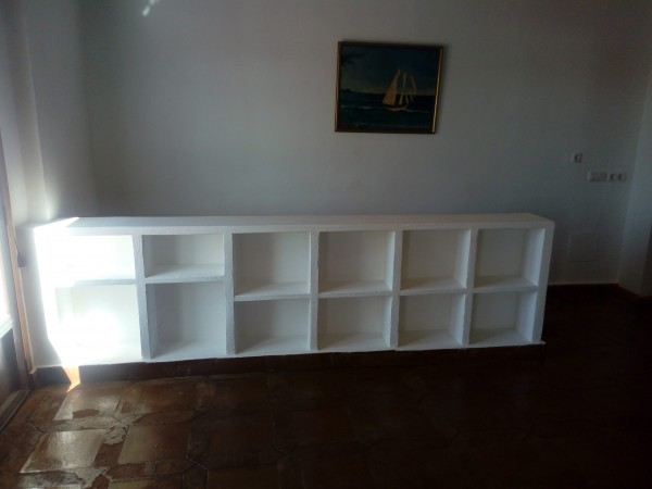 masonary bookcase
