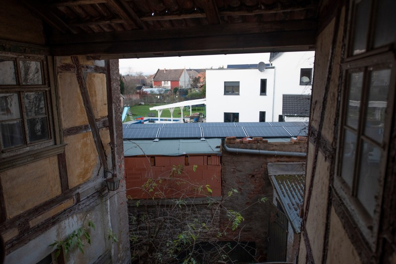 Looking from upstairs to rear