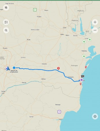 the route from the property to the Black Sea