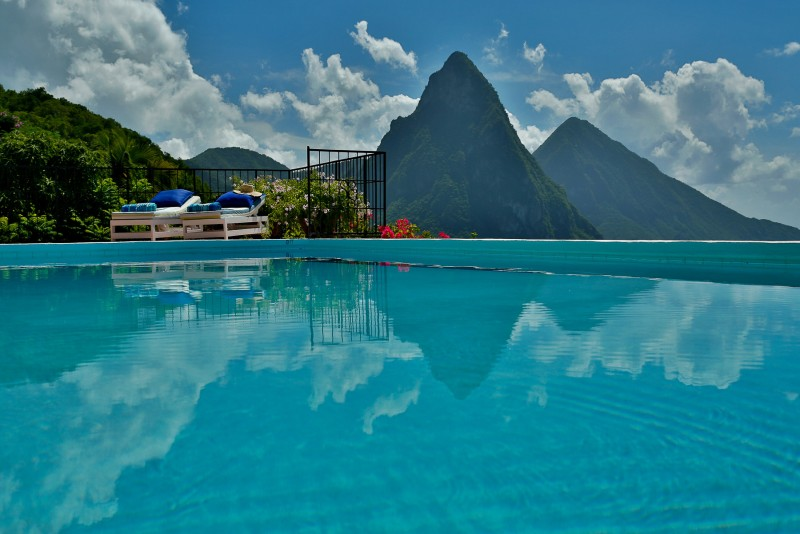 Tamarind pool with Pitons