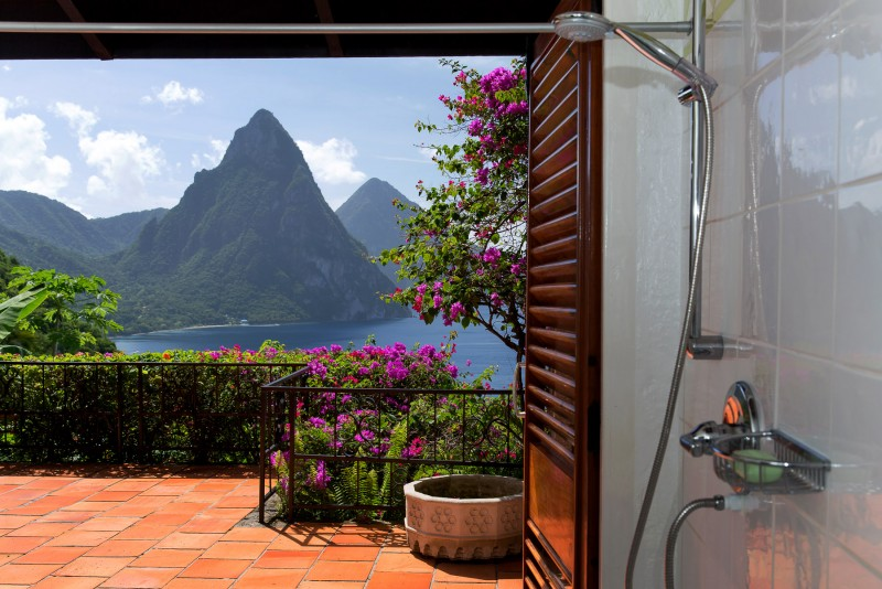 master shower with view