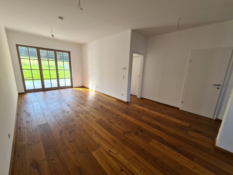 living room with garden access