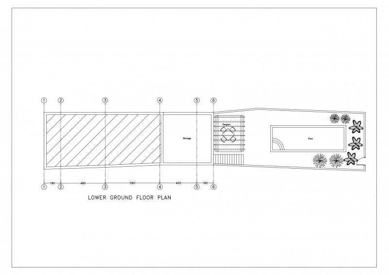 Plan basement and garden