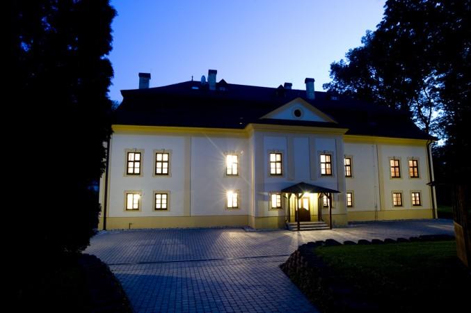 Manor House Exterior Night