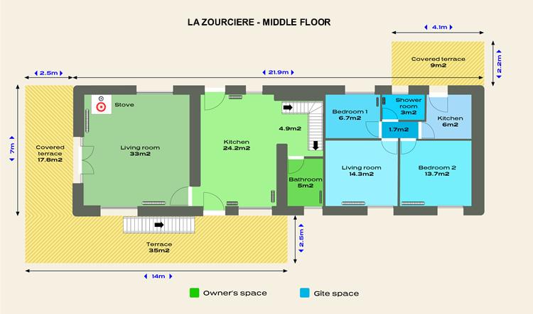 floor plan middle floor