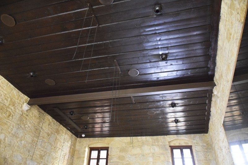 Wooden restored ceiling